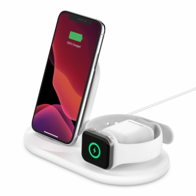 Belkin Wireless BOOSTCHARGE?3in1 Ladestation White