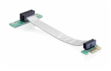 Riser Karte PCI Express x1 > x1 mit flexiblem Kabel 13 cm links gerichtet, Riser Card