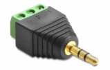 Adapter 3,5-mm-Stecker > Terminalblock